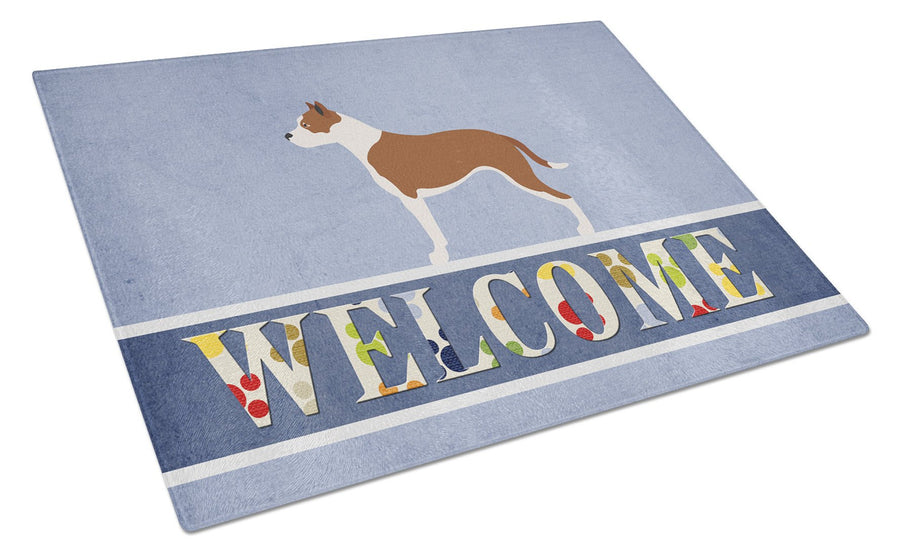 Buy this Pit Bull Terrier Welcome Glass Cutting Board Large BB8325LCB