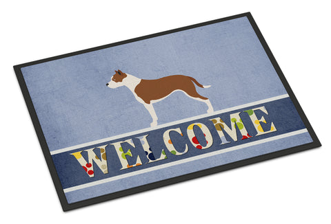Buy this Pit Bull Terrier Welcome Indoor or Outdoor Mat 18x27 BB8325MAT