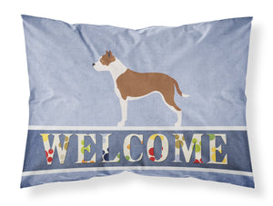 Buy this Pit Bull Terrier Welcome Fabric Standard Pillowcase BB8325PILLOWCASE