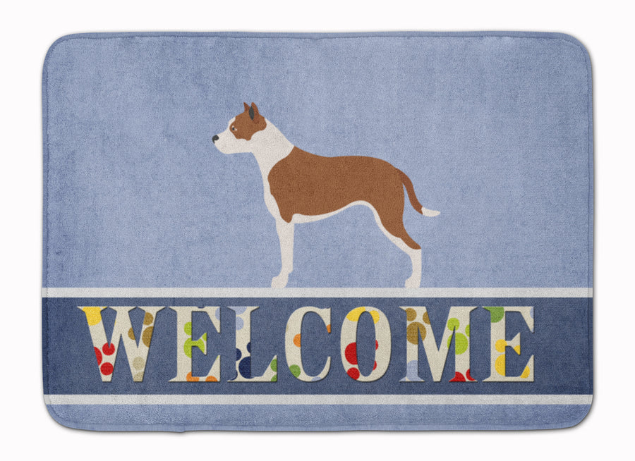 Buy this Pit Bull Terrier Welcome Machine Washable Memory Foam Mat BB8325RUG