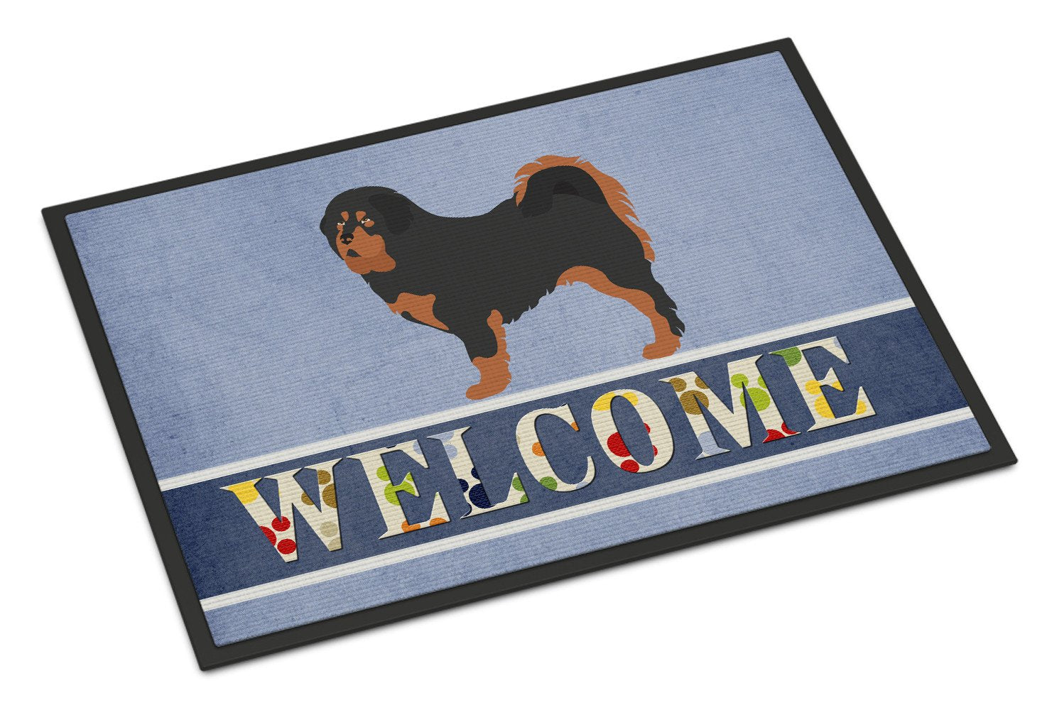 Tibetan Mastiff Welcome Indoor or Outdoor Mat 24x36 BB8326JMAT by Caroline's Treasures