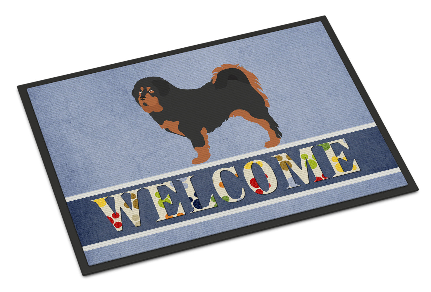 Tibetan Mastiff Welcome Indoor or Outdoor Mat 18x27 BB8326MAT by Caroline's Treasures