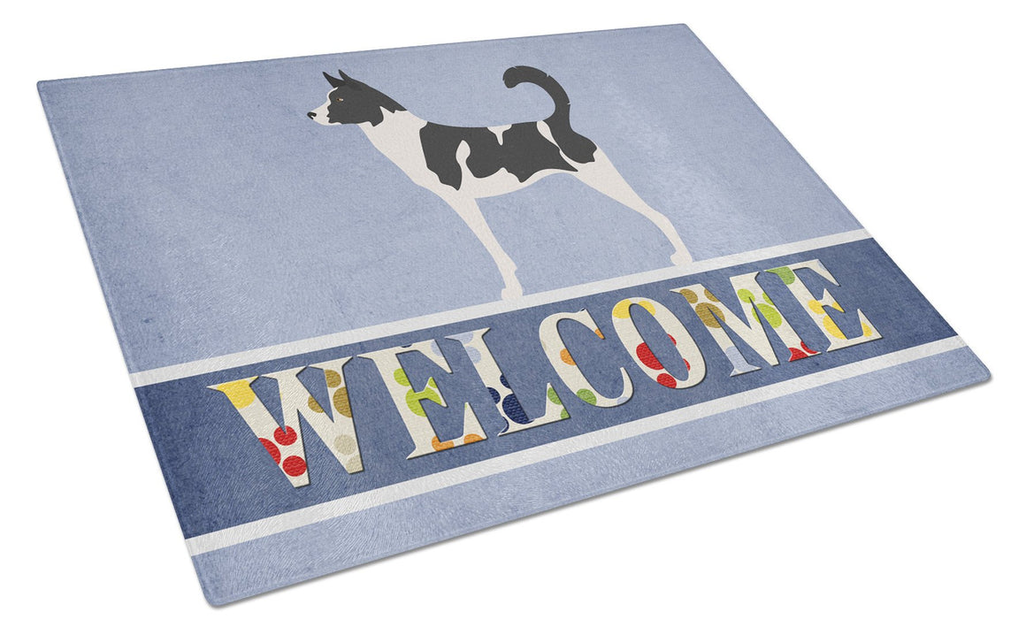 Buy this Canaan Dog Welcome Glass Cutting Board Large BB8329LCB