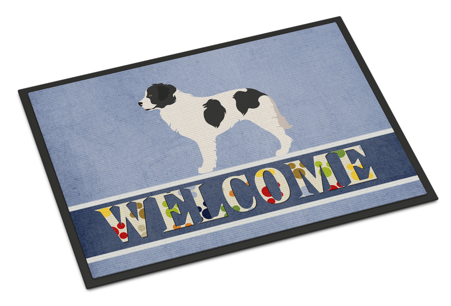 Landseer Welcome Indoor or Outdoor Mat 18x27 BB8331MAT by Caroline's Treasures