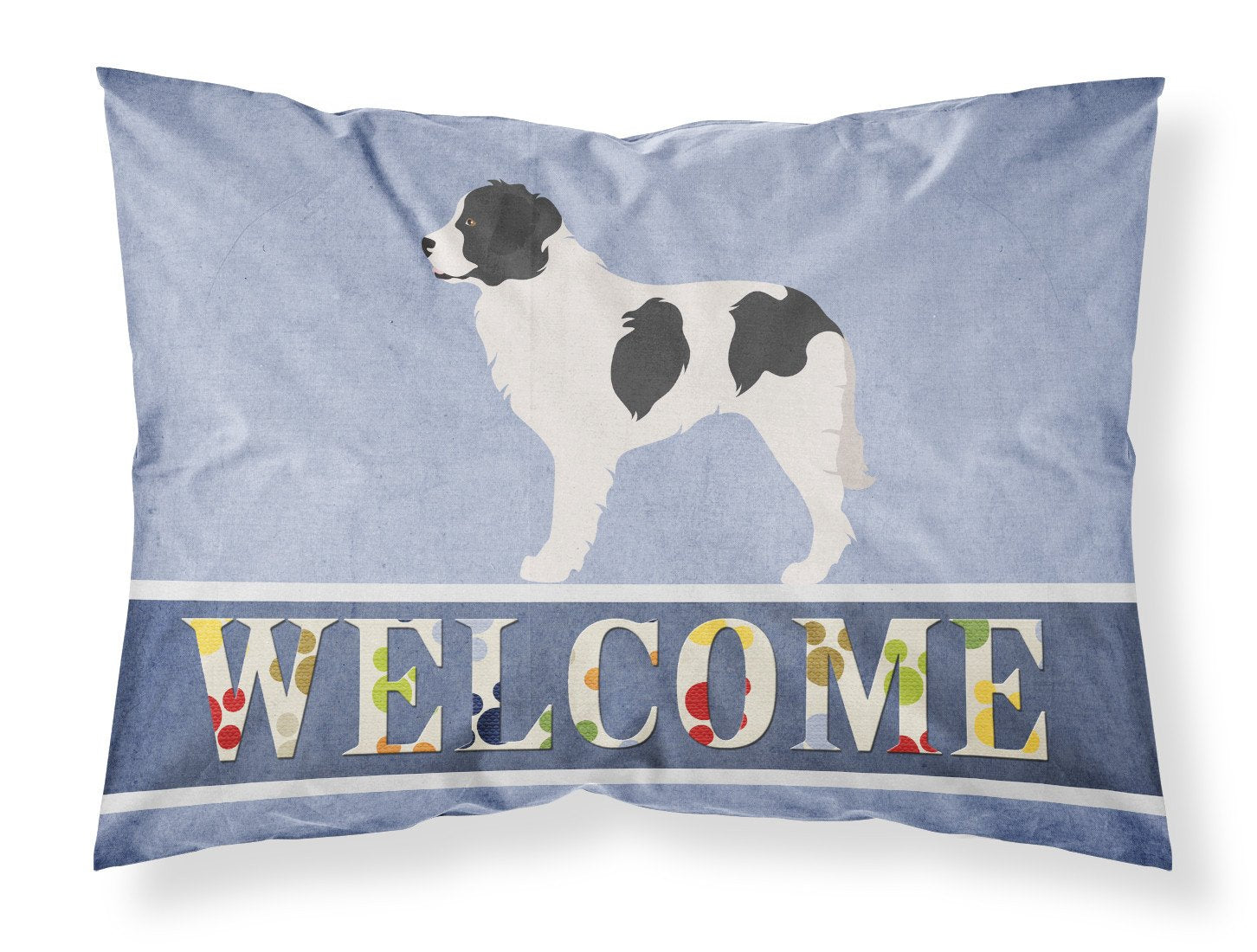 Landseer Welcome Fabric Standard Pillowcase BB8331PILLOWCASE by Caroline's Treasures