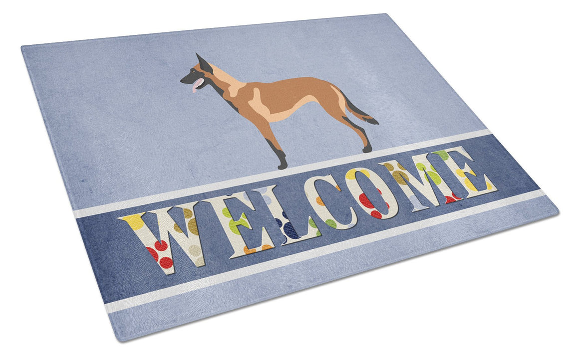 Buy this Malinois Belgian Shepherd  Glass Cutting Board Large BB8332LCB