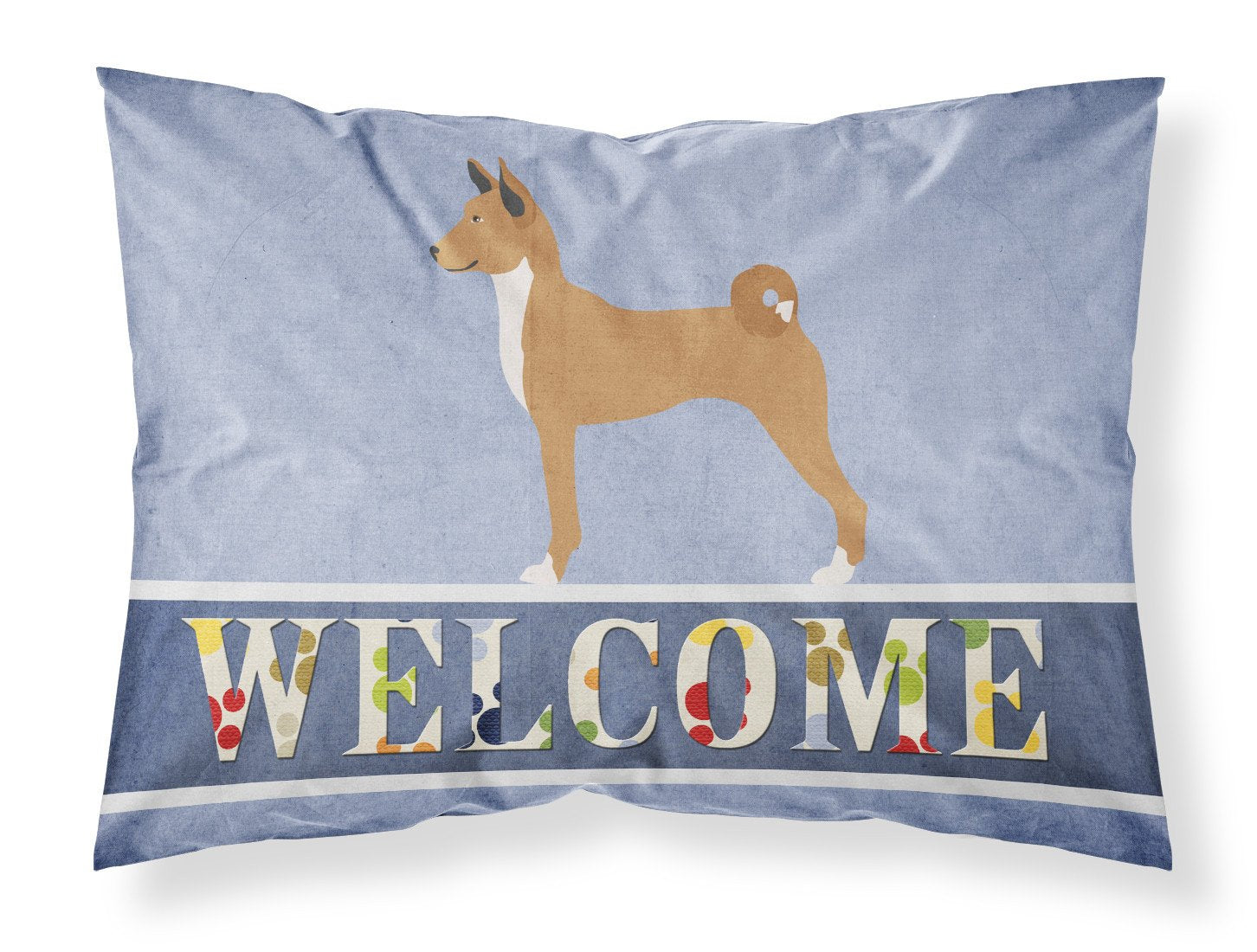 Telomian Welcome Fabric Standard Pillowcase BB8333PILLOWCASE by Caroline's Treasures