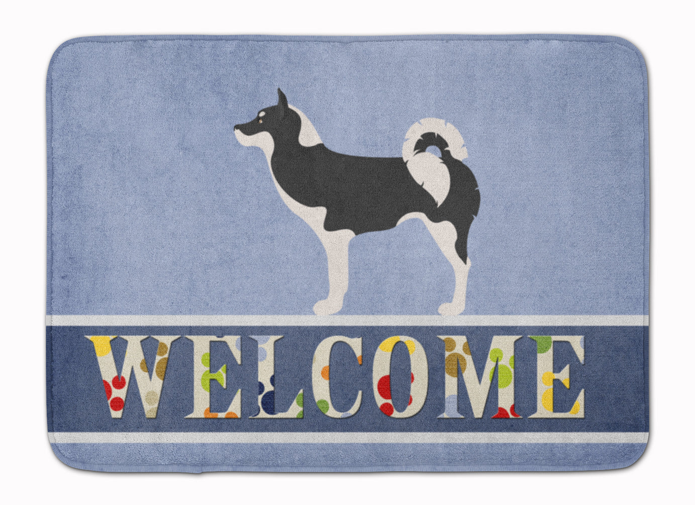 Greenland Dog Welcome Machine Washable Memory Foam Mat BB8338RUG by Caroline's Treasures