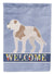 American Bulldog Welcome Flag Garden Size BB8348GF by Caroline's Treasures
