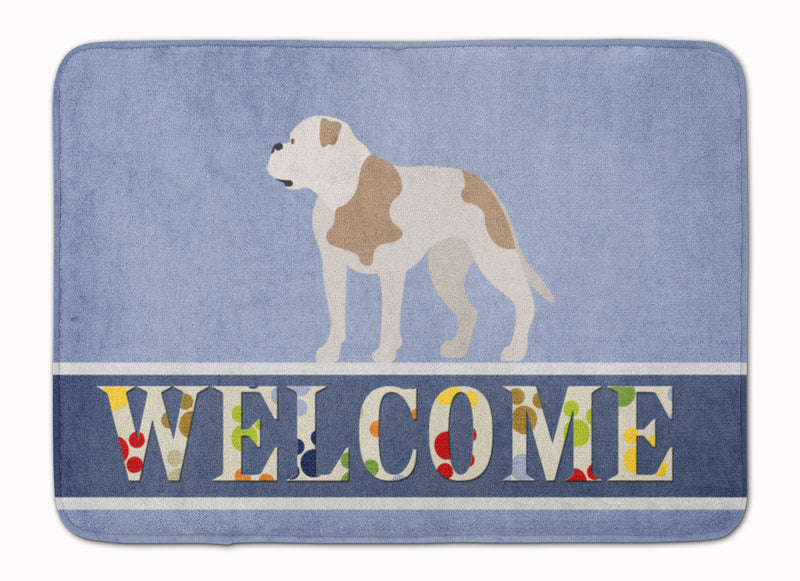 American Bulldog Welcome Machine Washable Memory Foam Mat BB8348RUG by Caroline's Treasures