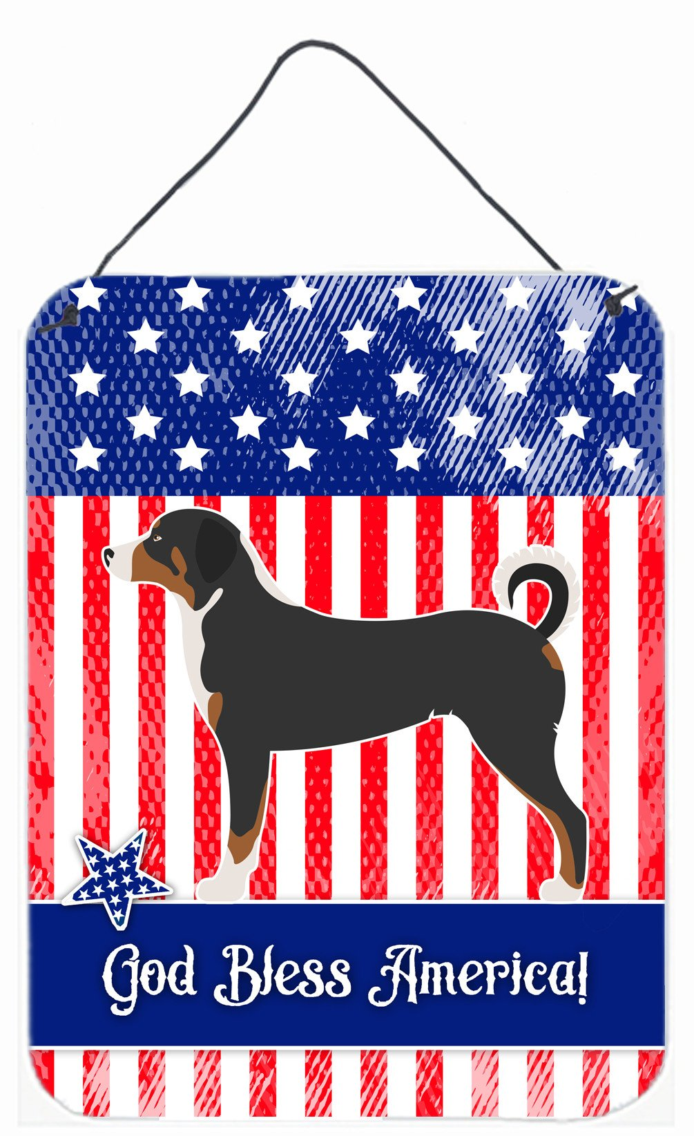Appenzeller Sennenhund American Wall or Door Hanging Prints BB8369DS1216 by Caroline's Treasures