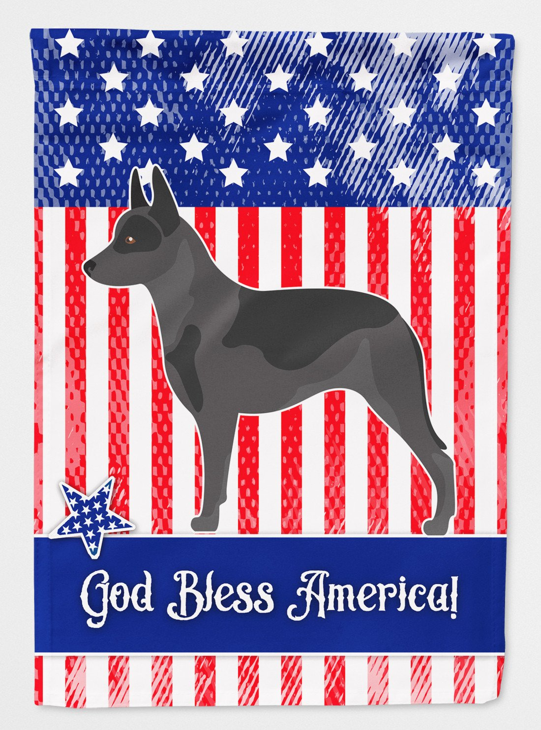 Buy this Australian Cattle Dog American Flag Garden Size BB8370GF