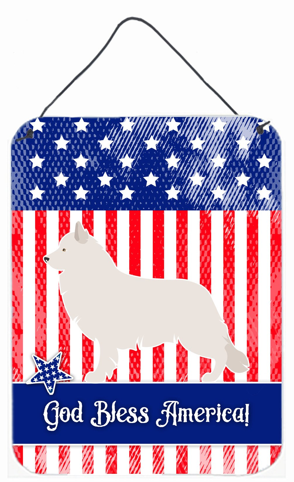 Berger Blanc Suisse American Wall or Door Hanging Prints BB8373DS1216 by Caroline's Treasures