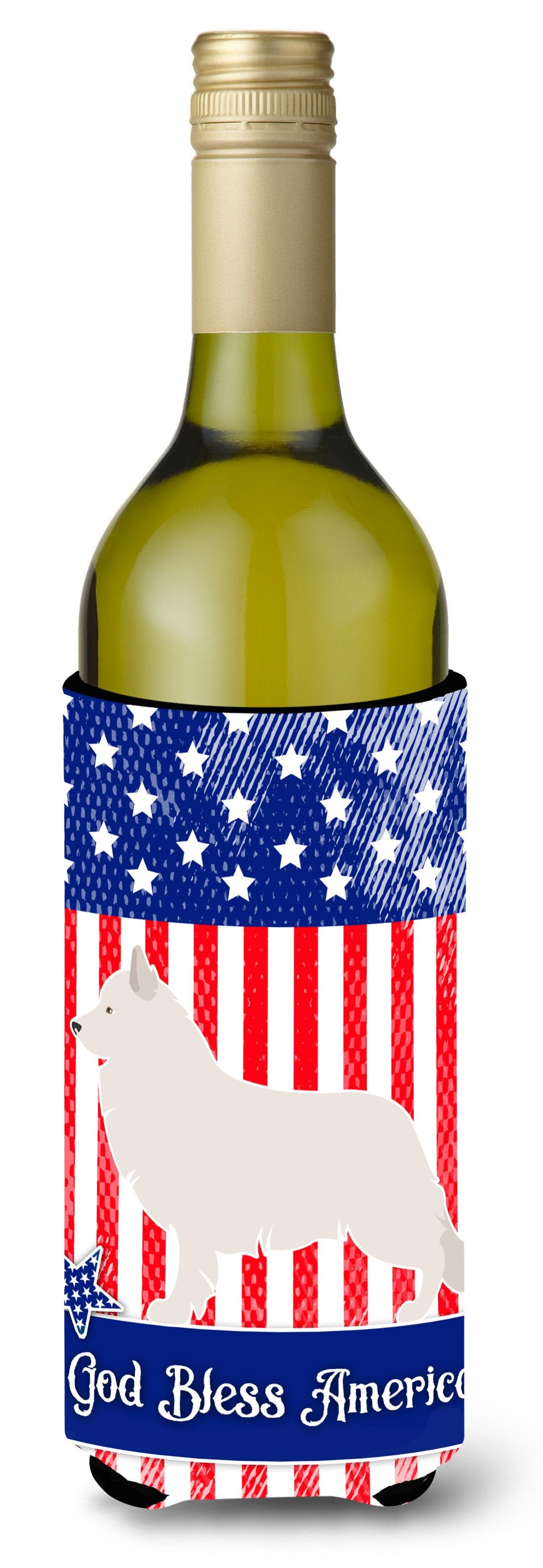 Berger Blanc Suisse American Wine Bottle Beverge Insulator Hugger BB8373LITERK by Caroline's Treasures