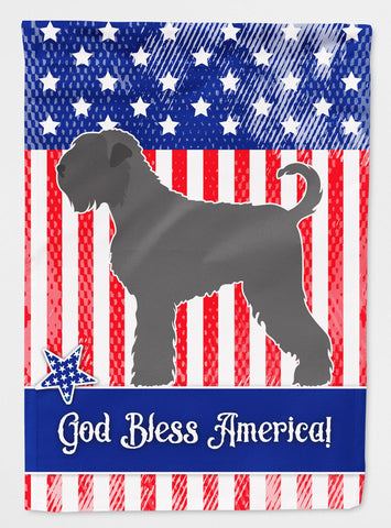 Buy this Black Russian Terrier American Flag Garden Size BB8374GF