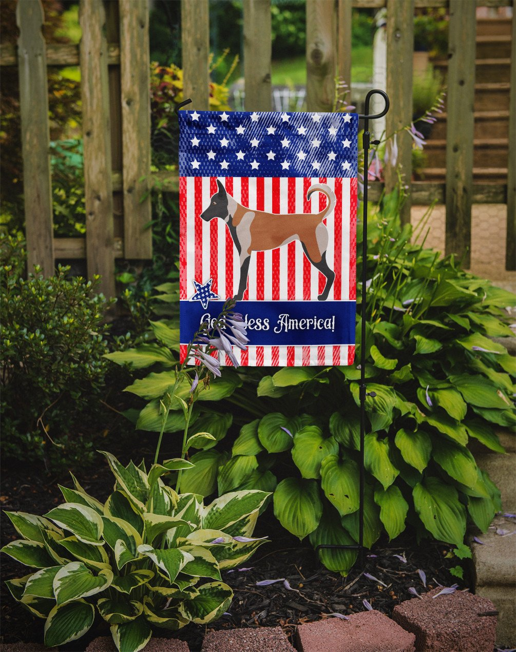 Malinois American Flag Garden Size BB8380GF by Caroline's Treasures