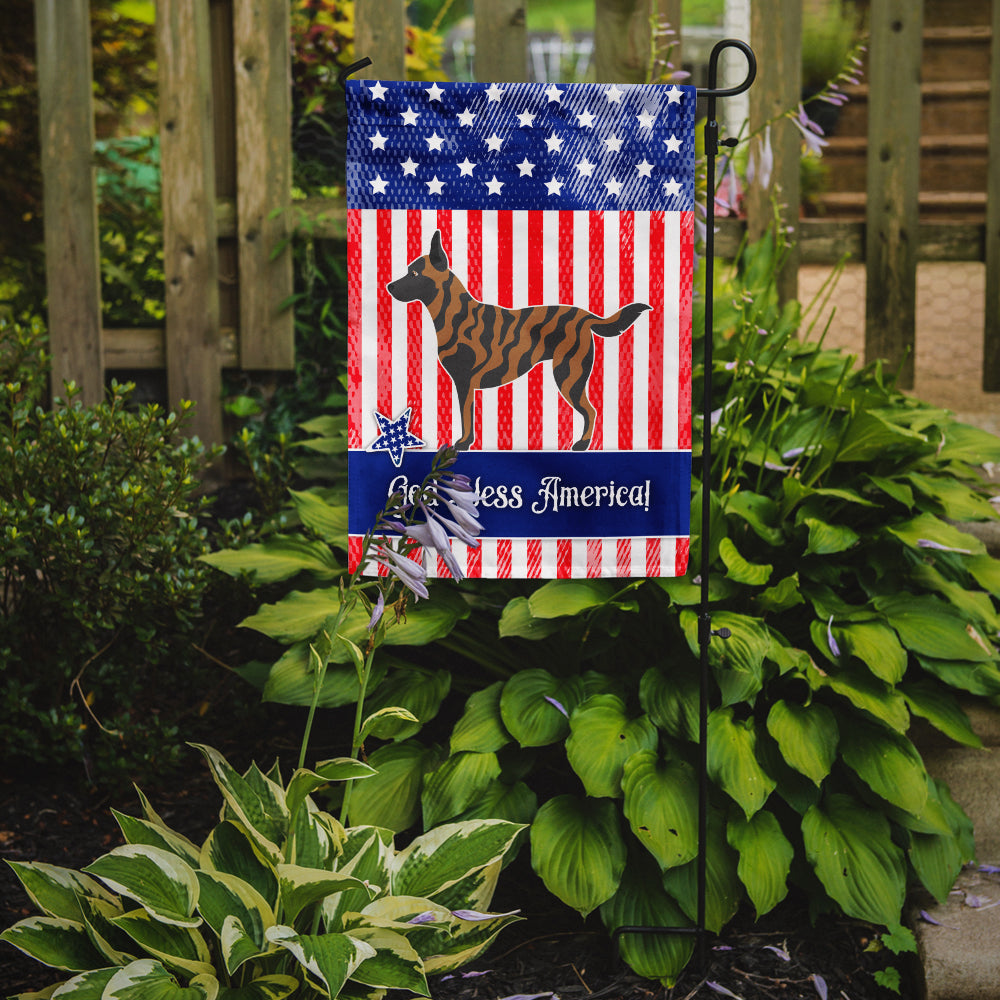Dutch Shepherd American Flag Garden Size BB8381GF by Caroline's Treasures