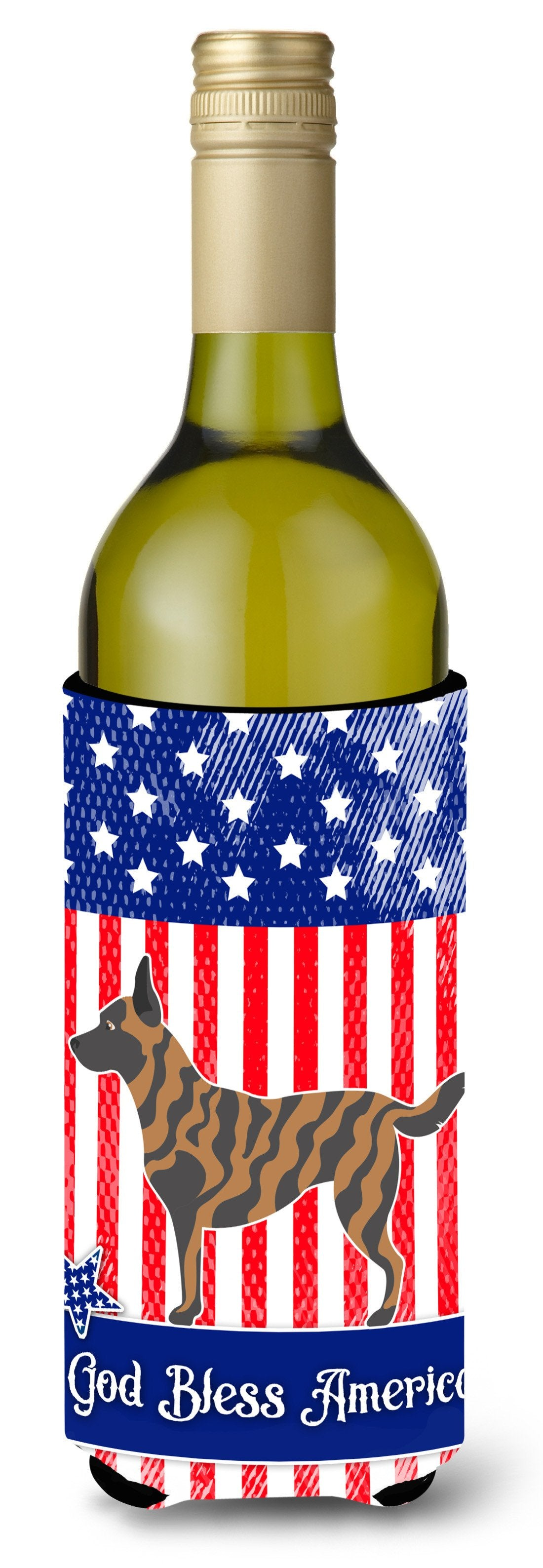 Dutch Shepherd American Wine Bottle Beverge Insulator Hugger BB8381LITERK by Caroline's Treasures