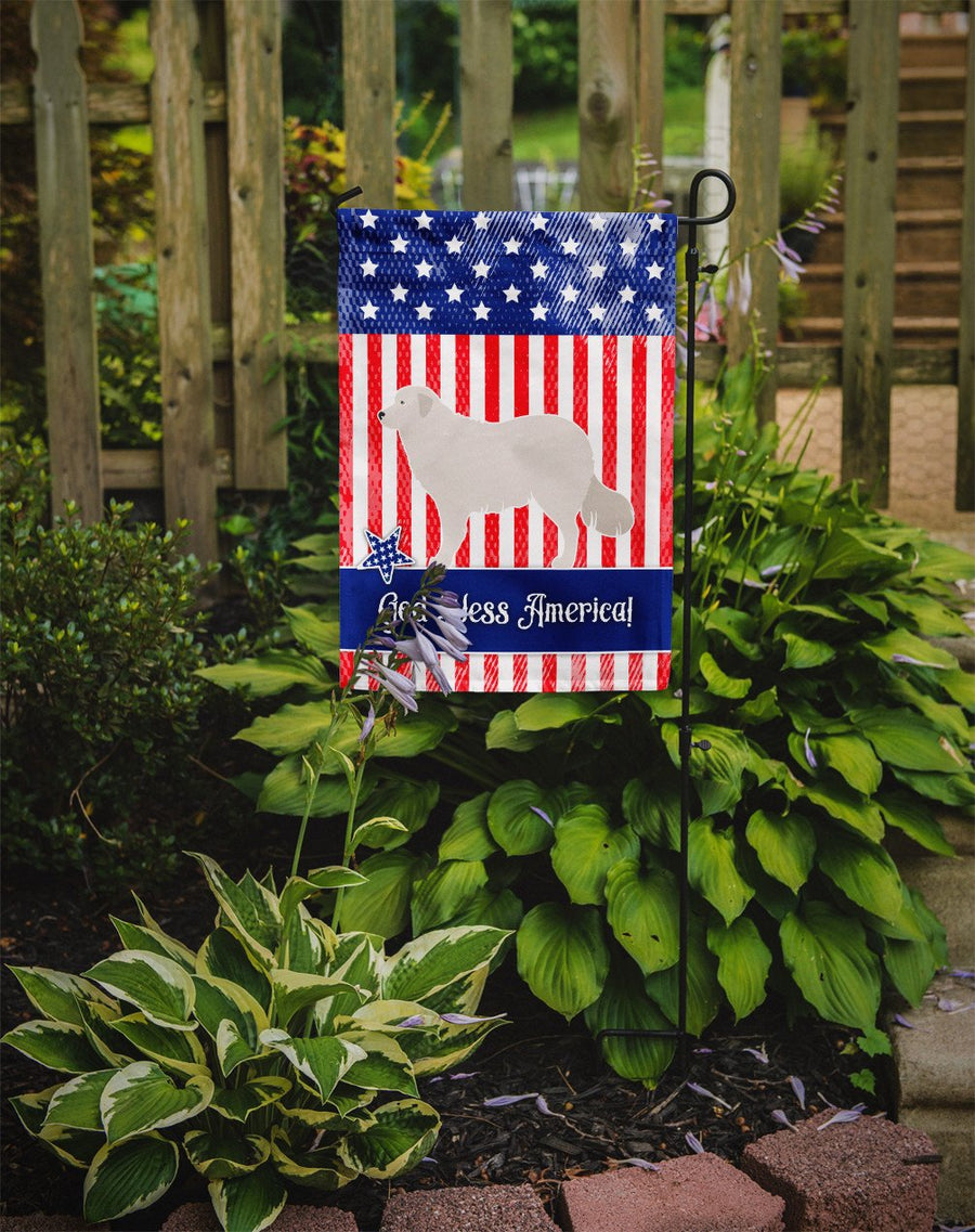 Buy this Kuvasz American Flag Garden Size BB8386GF