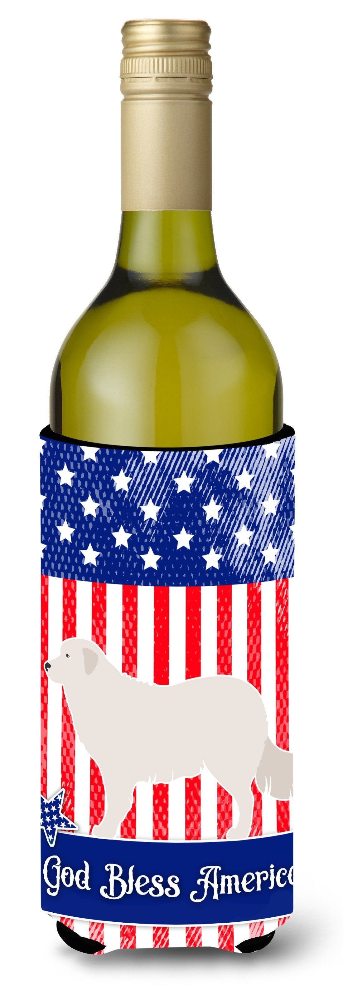 Buy this Kuvasz American Wine Bottle Beverge Insulator Hugger BB8386LITERK