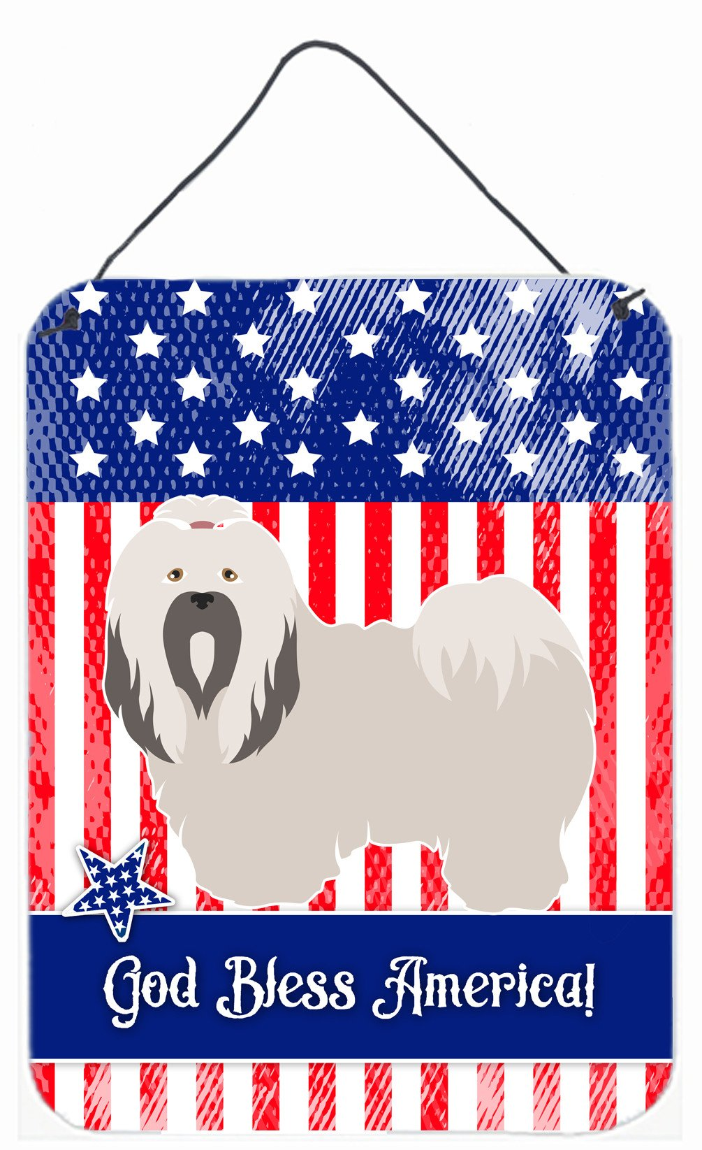 Buy this Lhasa Apso American Wall or Door Hanging Prints BB8400DS1216