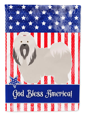 Buy this Lhasa Apso American Flag Garden Size BB8400GF