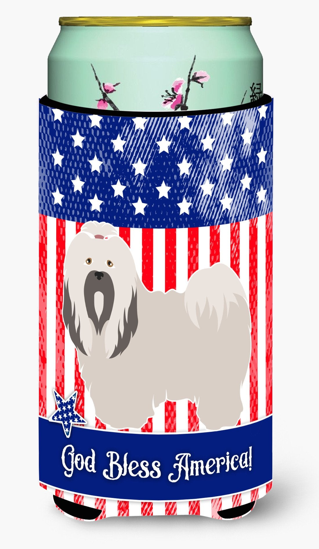 Buy this Lhasa Apso American Tall Boy Beverage Insulator Hugger BB8400TBC