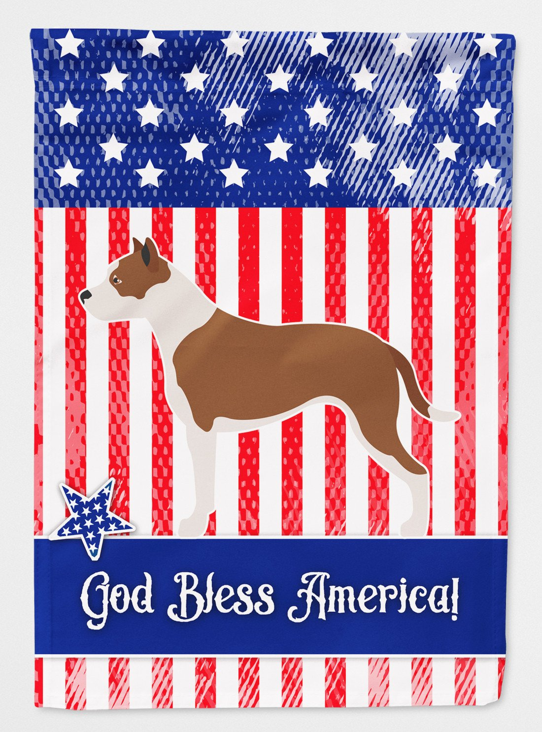 Pit Bull Terrier American Flag Garden Size BB8406GF by Caroline's Treasures