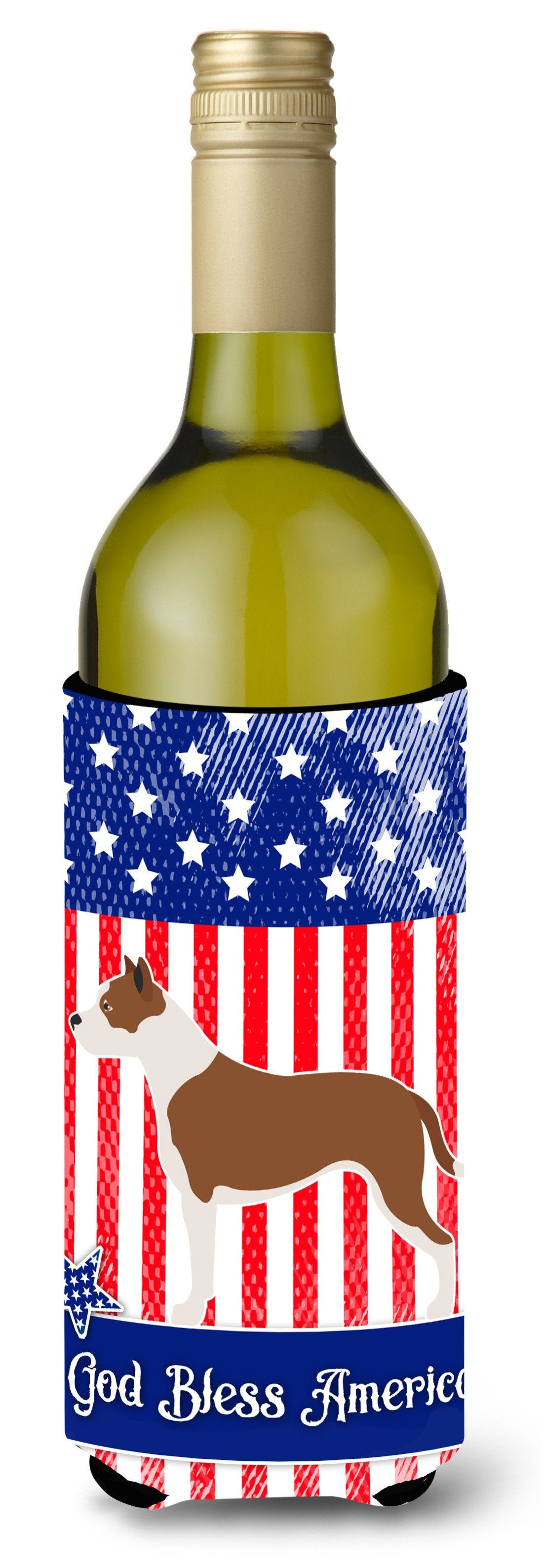 Buy this Pit Bull Terrier American Wine Bottle Beverge Insulator Hugger BB8406LITERK