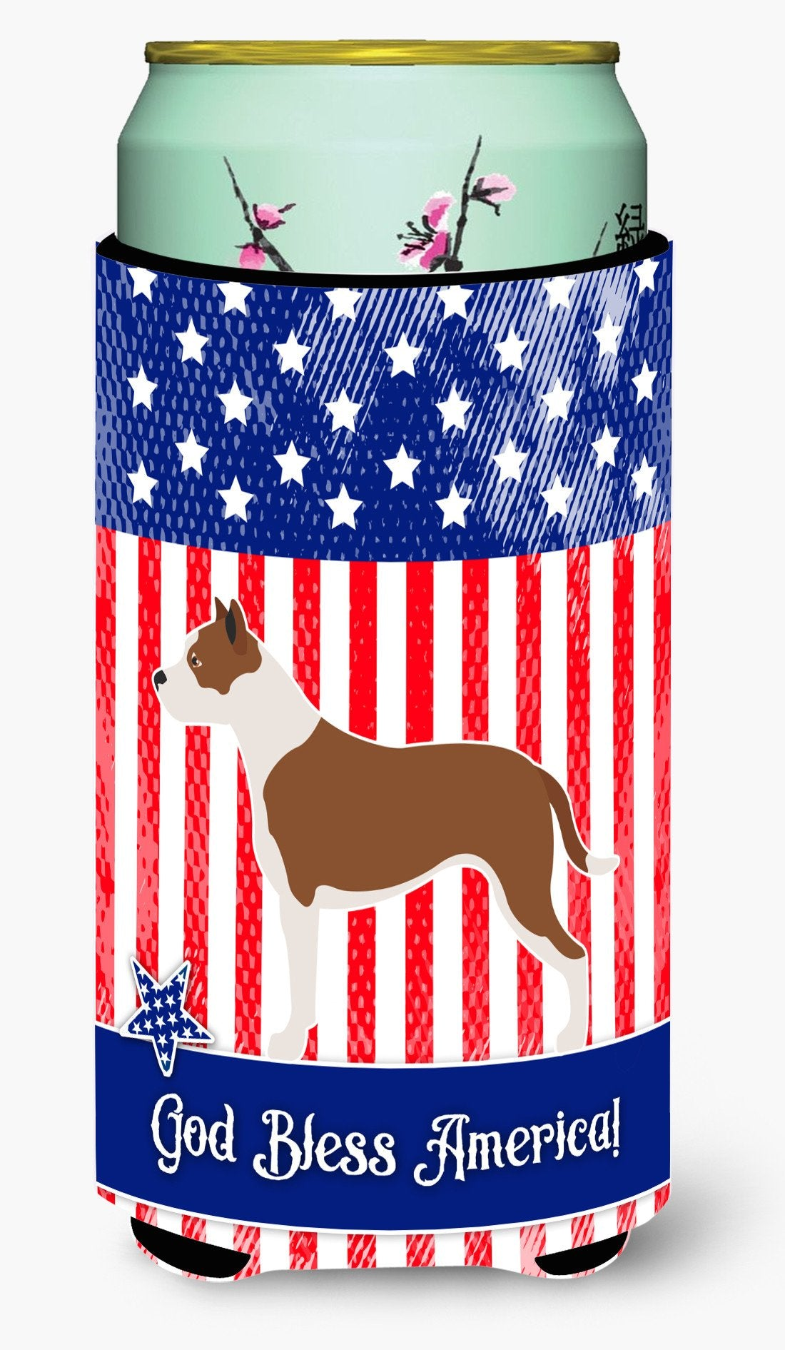 Pit Bull Terrier American Tall Boy Beverage Insulator Hugger BB8406TBC by Caroline's Treasures