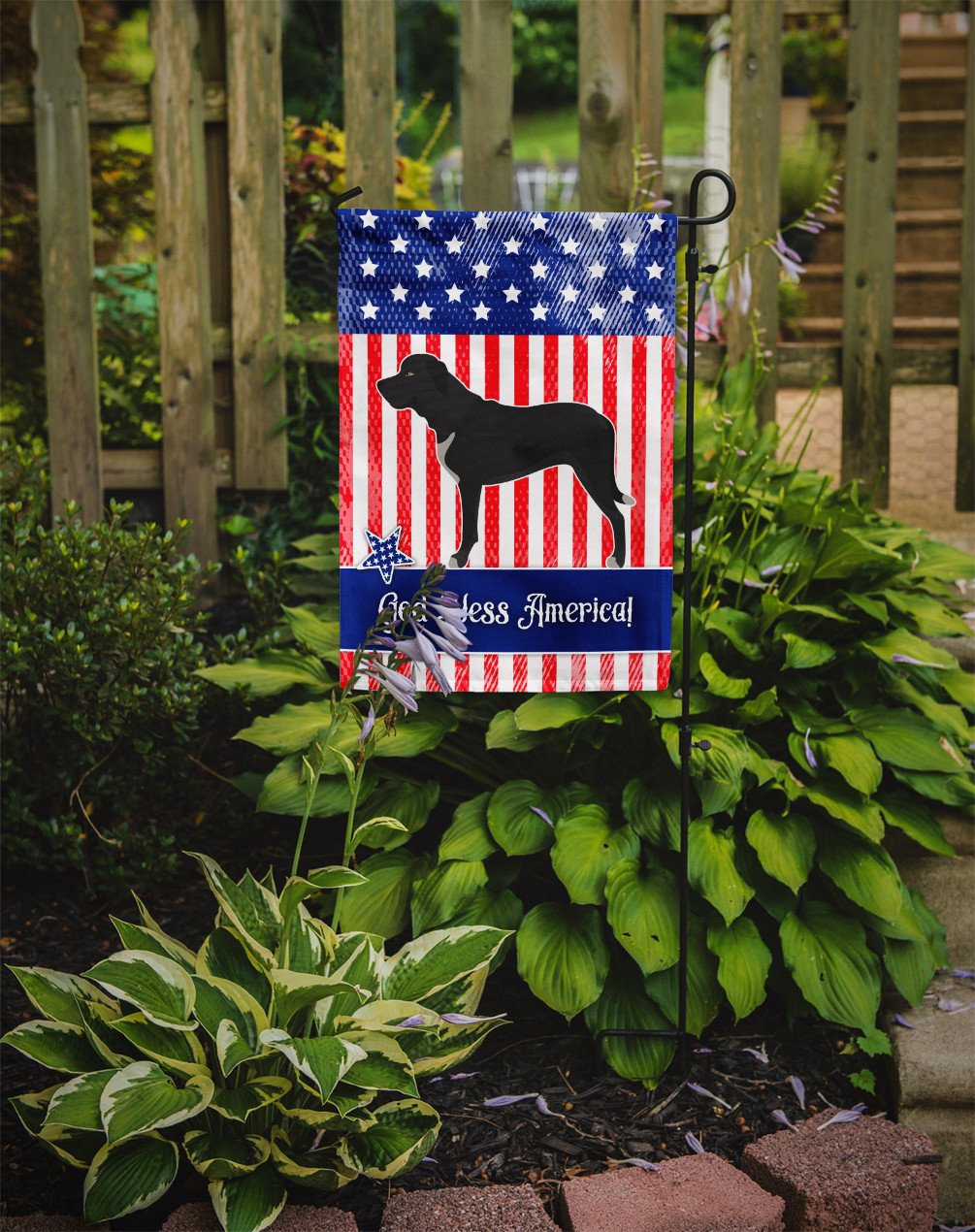 Broholmer Danish Mastiff American Flag Garden Size BB8409GF by Caroline's Treasures