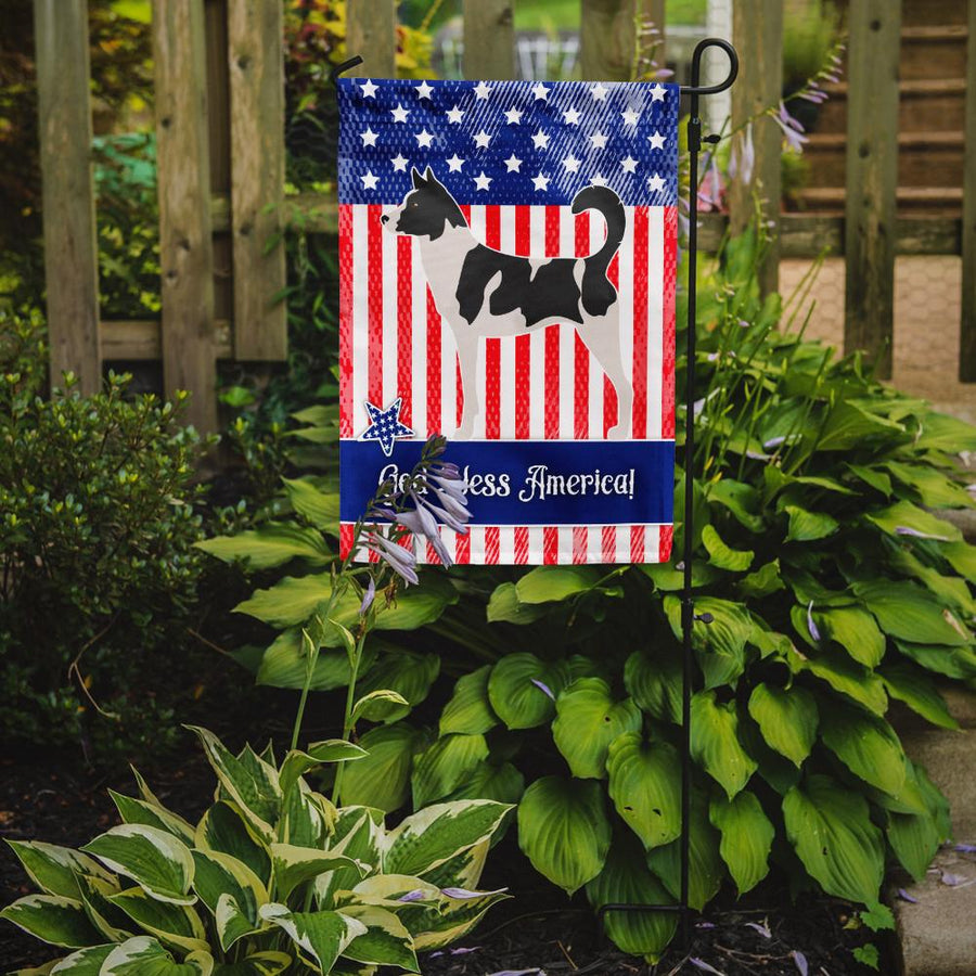 Buy this Canaan Dog American Flag Garden Size