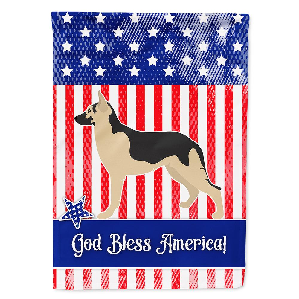 Buy this German Shepherd American Flag Garden Size