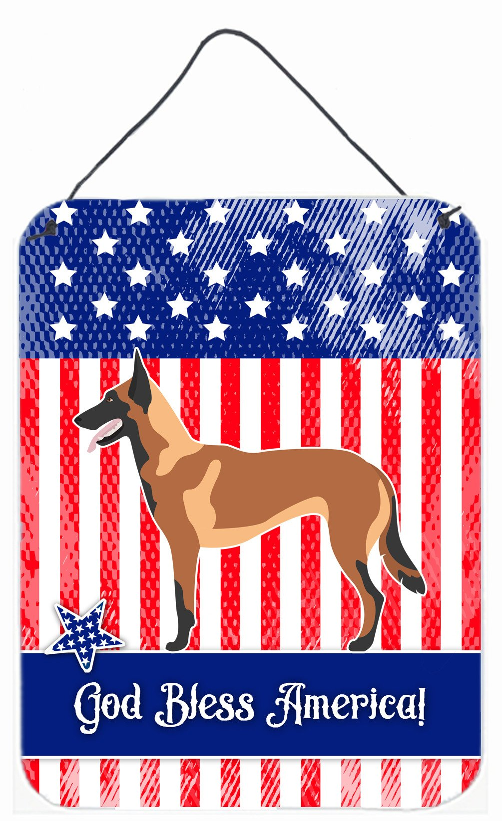 Malinois Belgian Shepherd  American Wall or Door Hanging Prints BB8413DS1216 by Caroline's Treasures