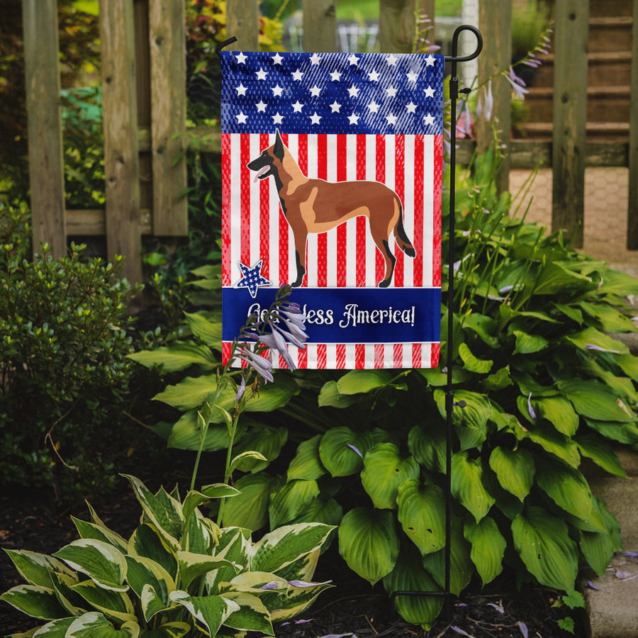 Buy this Malinois Belgian Shepherd  American Flag Garden Size BB8413GF