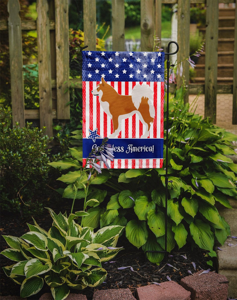 Icelandic Sheepdog American Flag Garden Size BB8421GF by Caroline's Treasures