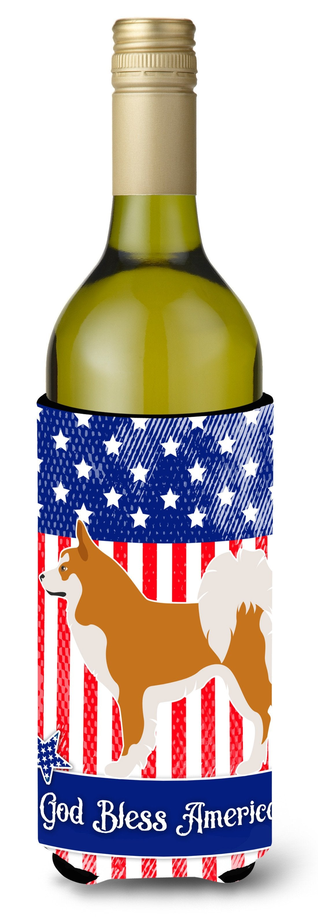 Icelandic Sheepdog American Wine Bottle Beverge Insulator Hugger BB8421LITERK by Caroline's Treasures