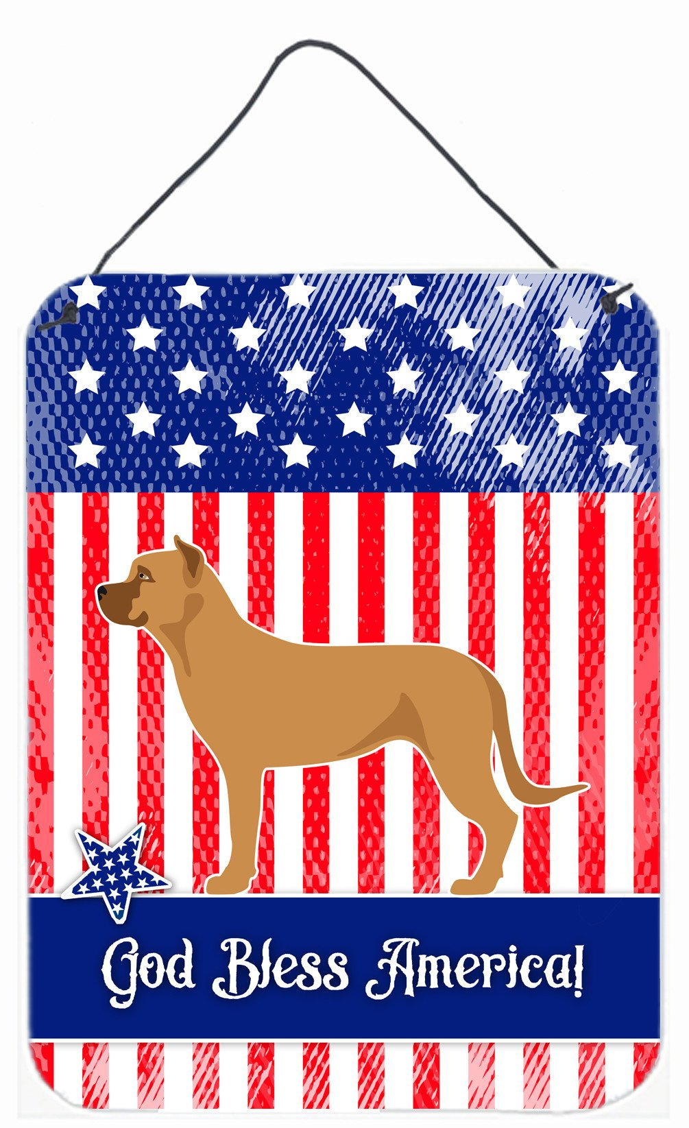 Alano Espanol Spanish Bulldog American Wall or Door Hanging Prints BB8425DS1216 by Caroline's Treasures