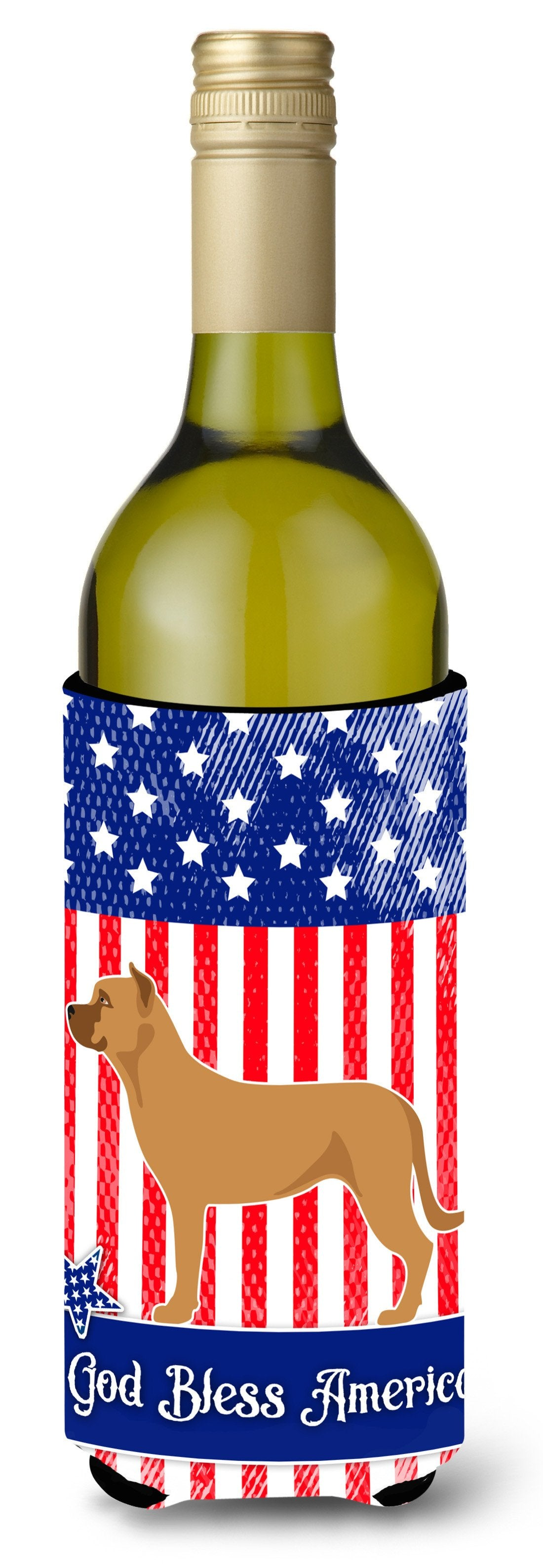 Alano Espanol Spanish Bulldog American Wine Bottle Beverge Insulator Hugger BB8425LITERK by Caroline's Treasures