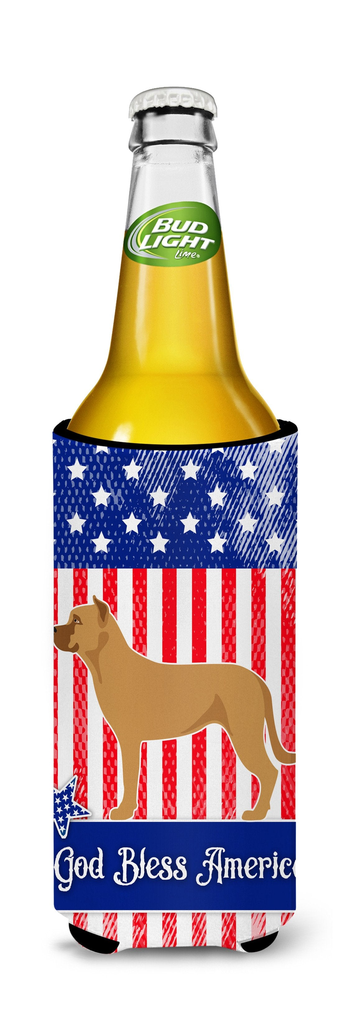 Alano Espanol Spanish Bulldog American Michelob Ultra Hugger for slim cans BB8425MUK by Caroline's Treasures