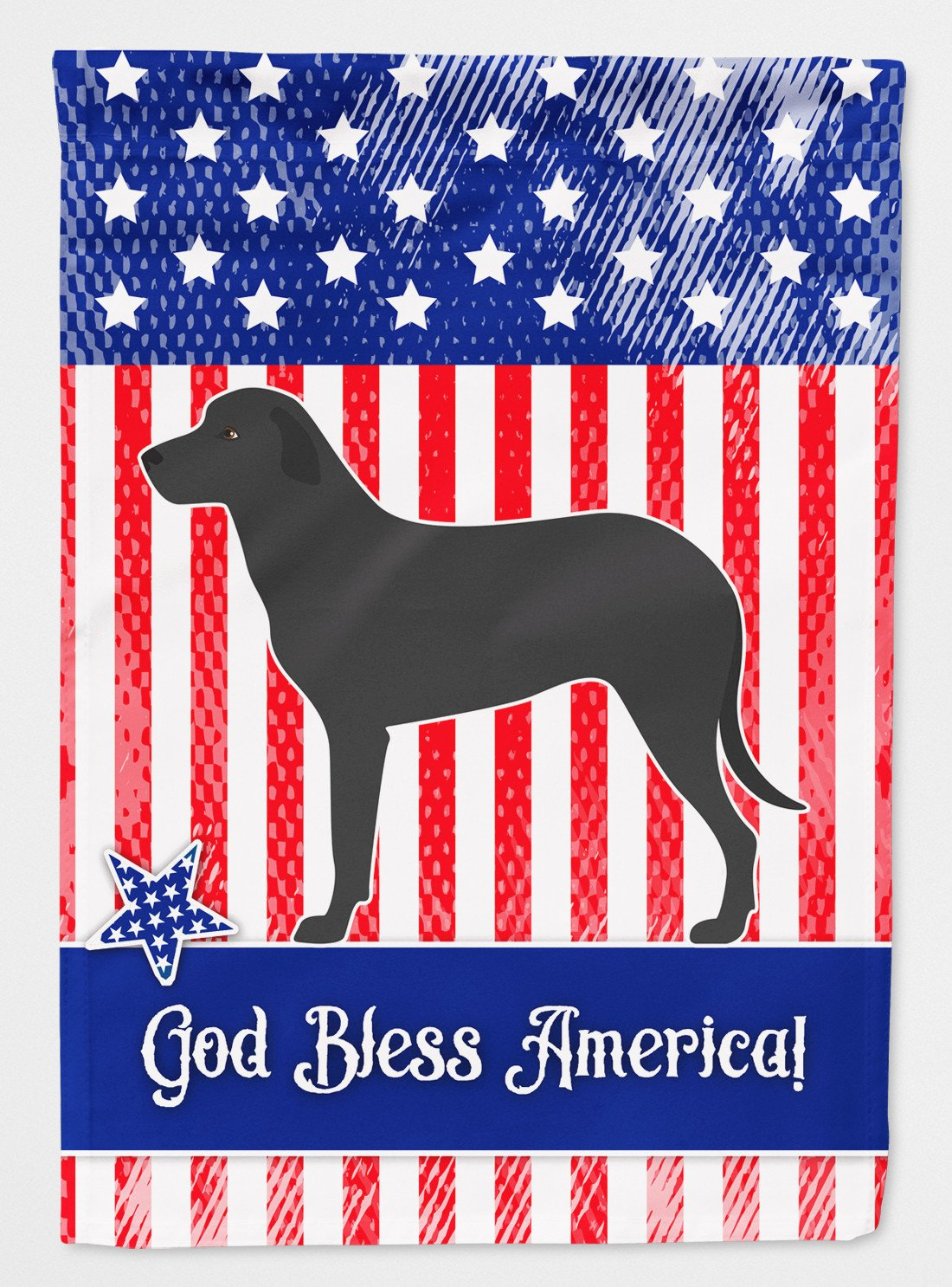 Majorca Shepherd Dog American Flag Garden Size BB8427GF by Caroline's Treasures