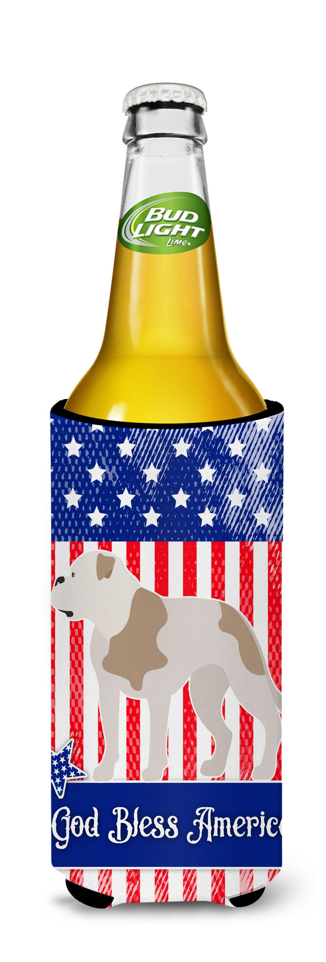 American Bulldog American Michelob Ultra Hugger for slim cans BB8429MUK by Caroline's Treasures