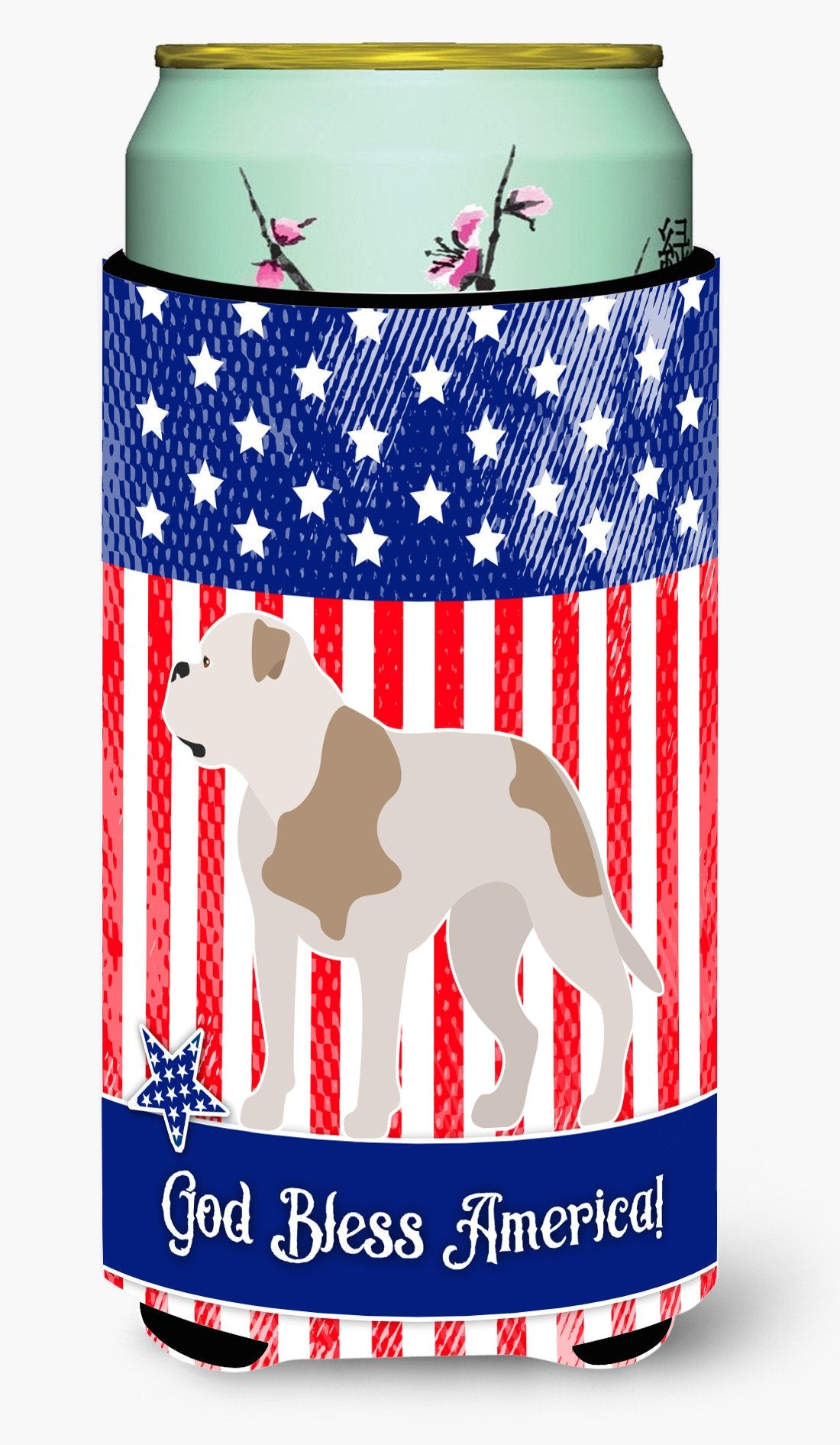 American Bulldog American Tall Boy Beverage Insulator Hugger BB8429TBC by Caroline's Treasures