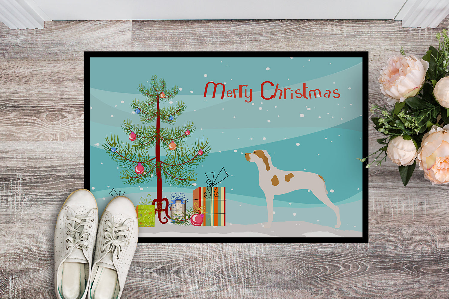 Ariege Pointer Christmas Indoor or Outdoor Mat 18x27 BB8434MAT by Caroline's Treasures