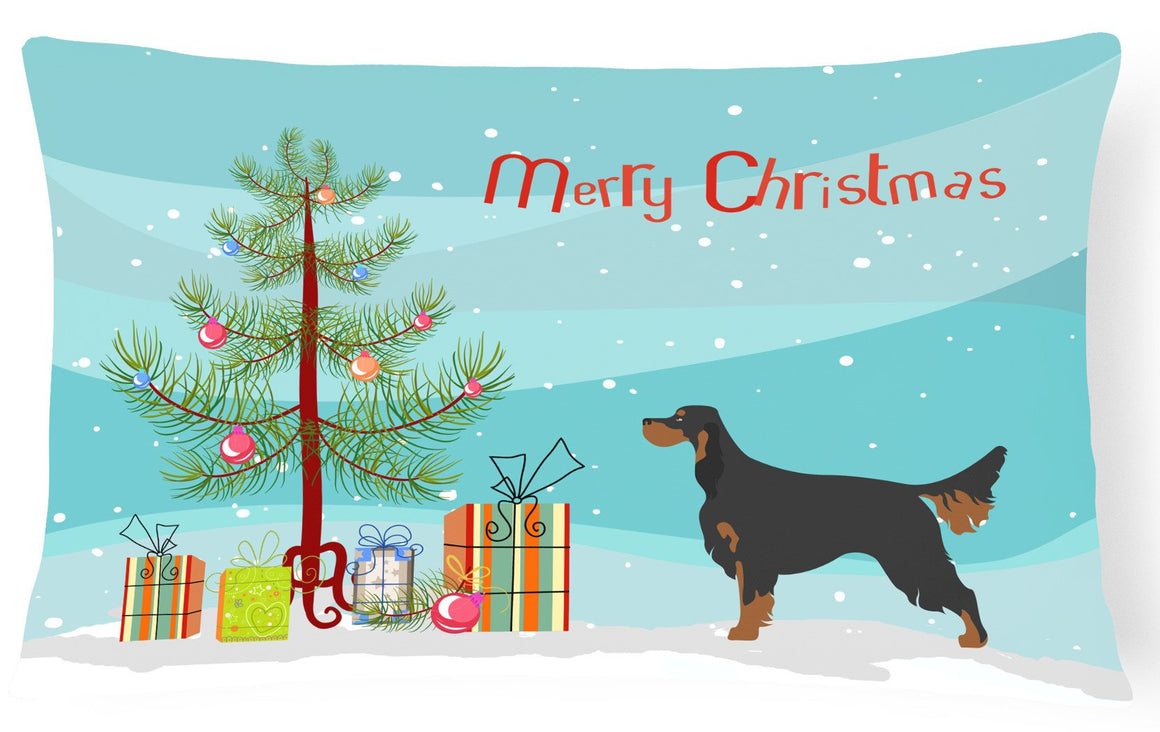 Buy this Gordon Setter Christmas Canvas Fabric Decorative Pillow BB8436PW1216