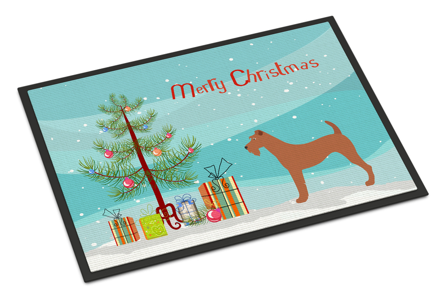 Irish Terrier Christmas Indoor or Outdoor Mat 18x27 BB8438MAT by Caroline's Treasures