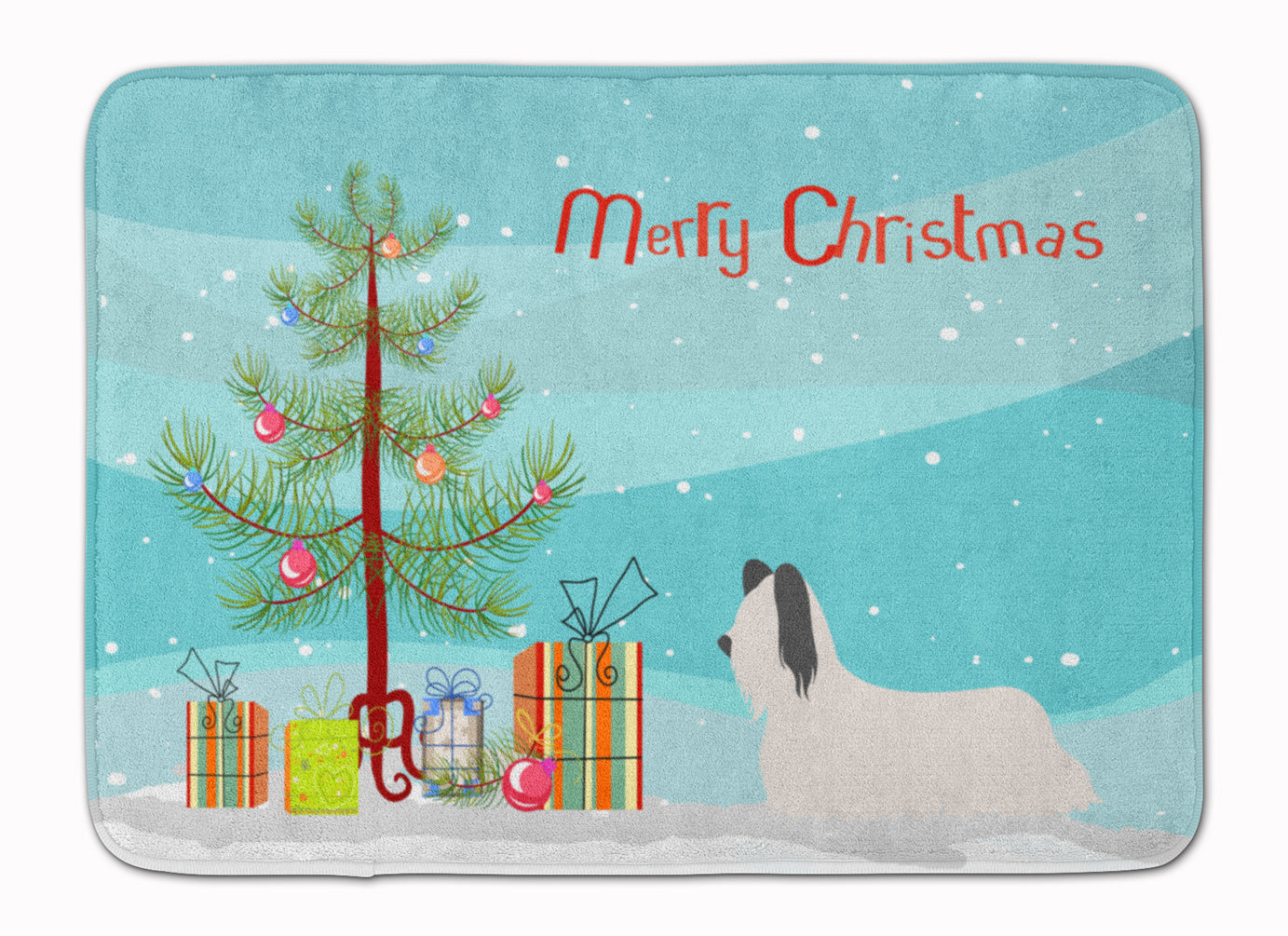 Skye Terrier Christmas Machine Washable Memory Foam Mat BB8440RUG by Caroline's Treasures