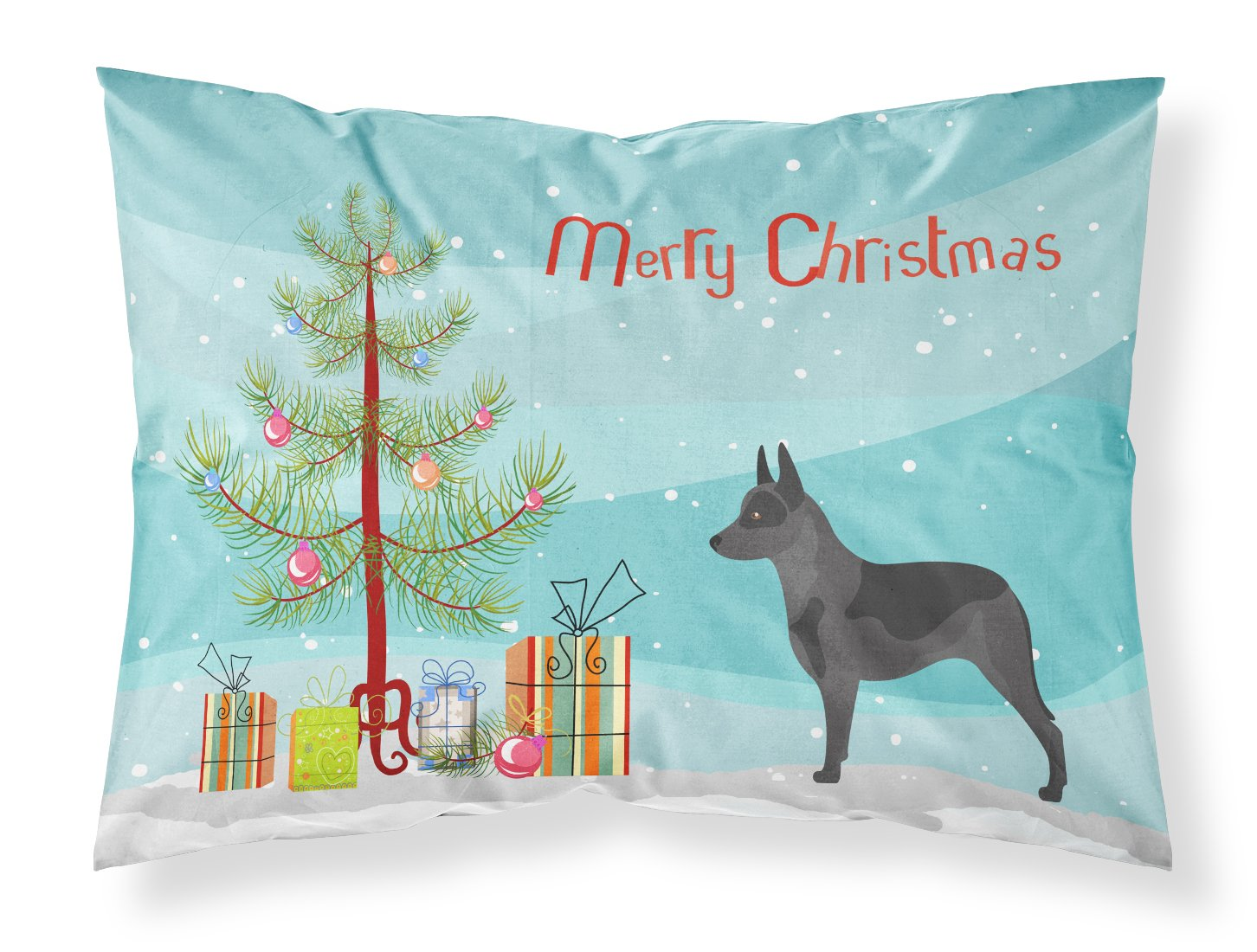 Australian Cattle Dog Christmas Fabric Standard Pillowcase by Caroline's Treasures