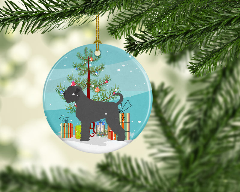 Buy this Black Russian Terrier Christmas Ceramic Ornament BB8455CO1