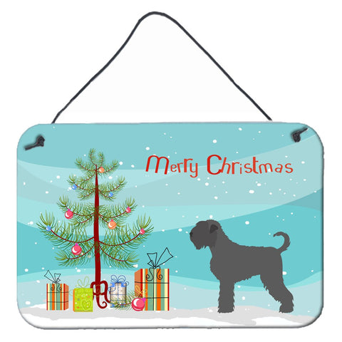 Buy this Black Russian Terrier Christmas Wall or Door Hanging Prints BB8455DS812